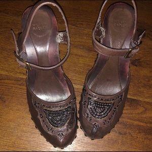 Hilary Radley embellished clog heels